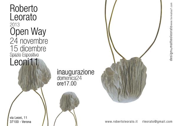 Roberto Leorato all'interno della rassegna artistica Open Way