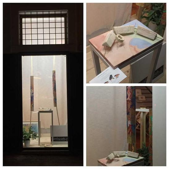 Esposizione nel laboratorio di Carla Venturi Leoni