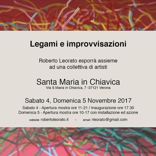 Legami e Improvvisazioni – presso la chiesa S.Maria in Chiavica, Verona